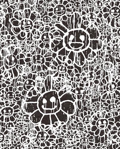 Takashi Murakami, 'Madsaki Flowers A Black', 2017, Dope! Gallery