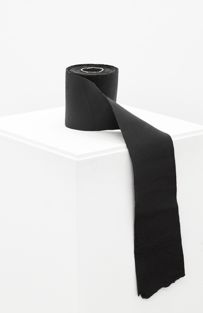 , 'Painting of a Black Paper Roll: Passage from Volume to Plane,' 2014, Cosmocosa