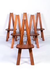 Six S45A chairs in elm