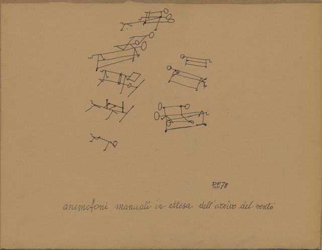 , 'Anemofoni manuali in attesa dell'arrivo del vento,' 1978, Osart