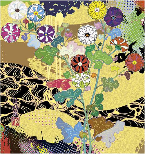 Takashi Murakami, 'Korin: The Time of Celebration', 2016, Print, Offset print with cold stamp and high gloss varnishing, Upsilon Gallery