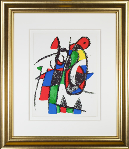 ", 'Original Lithograph II from ""Miro Lithographs II, Maeght Publisher"",' 1975, David Barnett Gallery"