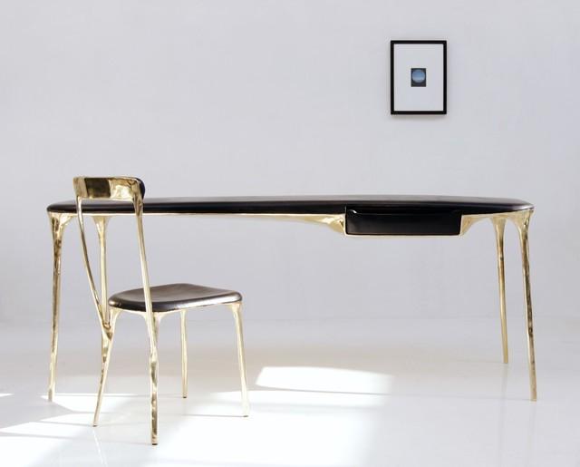 """, 'Desk - """"Brass"""" collection,' 2017, Galerie Gosserez"""