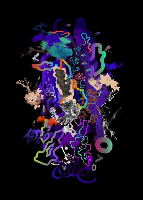 Guang-Yu Zhang, 'Neon Stone L', 2019, A.Style