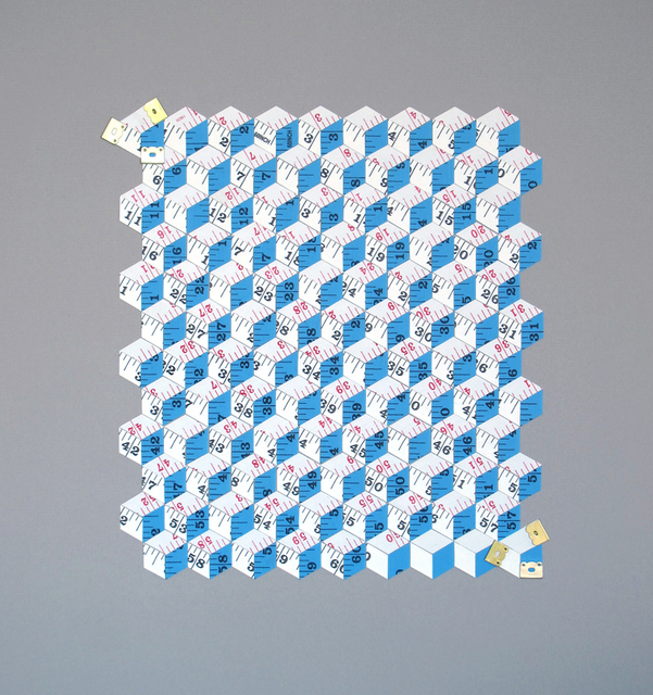 , 'Metric System (double white and blue rectangle),' 2014, MKG127
