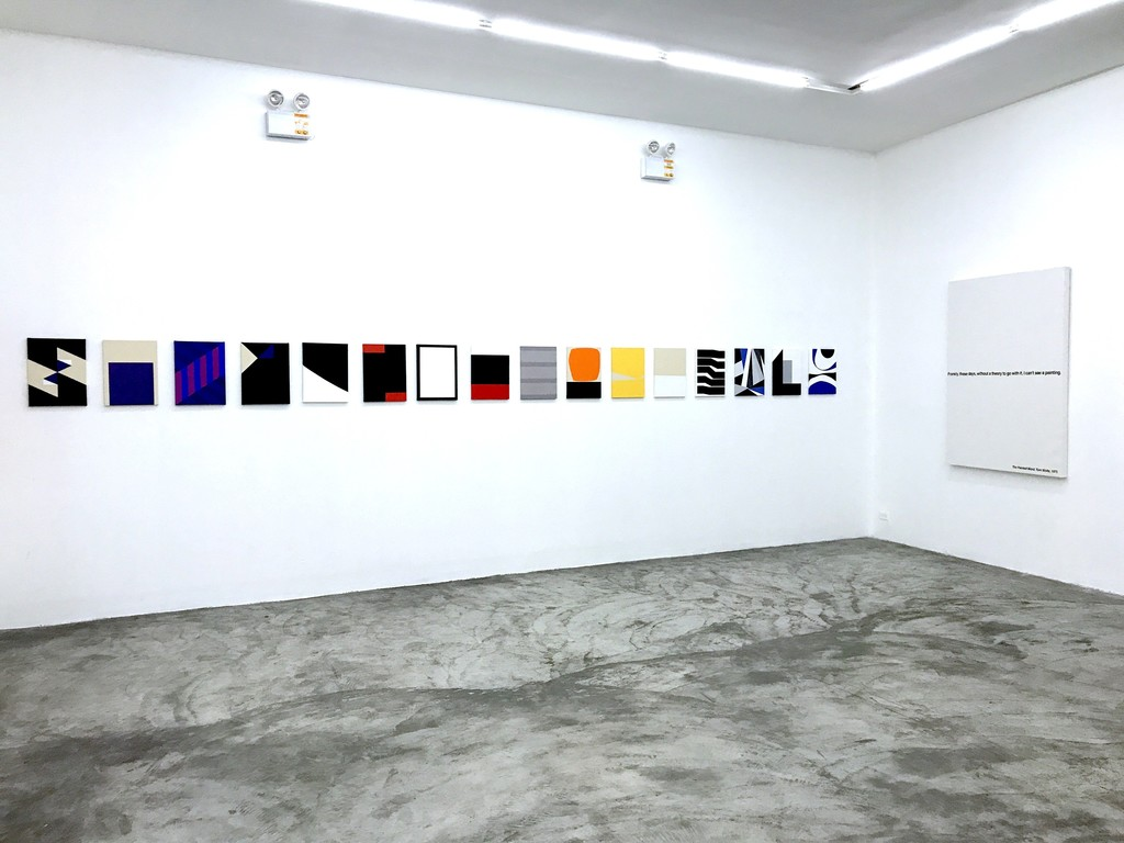 Installation view. 'The gist is in repetition' and 'Untitled'.