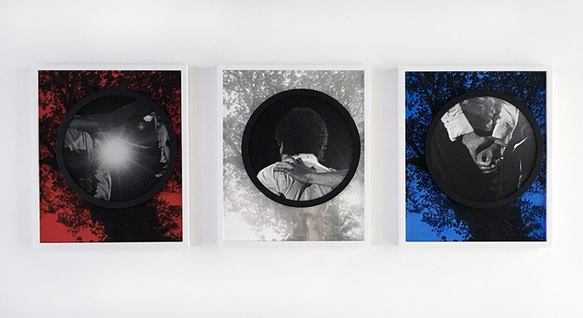 , 'Welcome to Planet Earth (red, white and blue) (triptych) 欢迎来地球(红、白、蓝),' 2015, ART LABOR Gallery