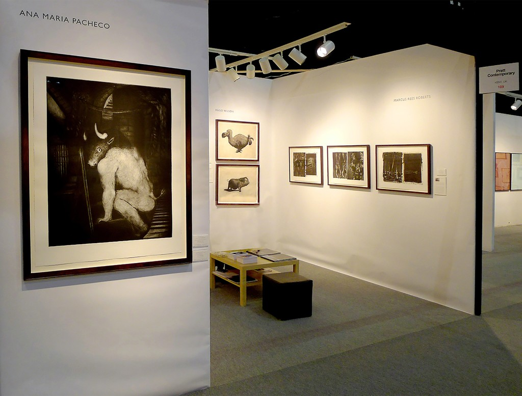 Pratt Contemporary at the ifpda Print Fair 2012 - showing works by Ana Maria Pacheco, Hugo Wilson and Marcus Rees Roberts.