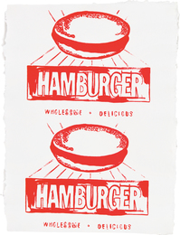 Andy Warhol, 'Hamburger (Double),' 1986, Phillips: Evening and Day Editions (October 2016)