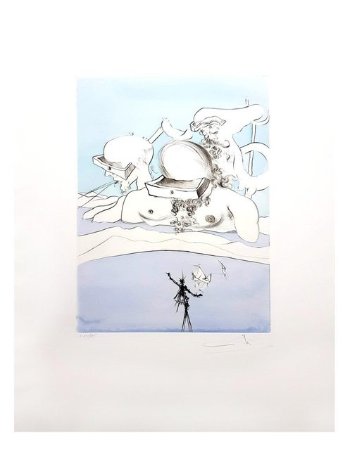 "Salvador Dalí, 'Original Etching ""Thrown like a Butt"" by Salvador Dalí', 1974, Galerie Philia"