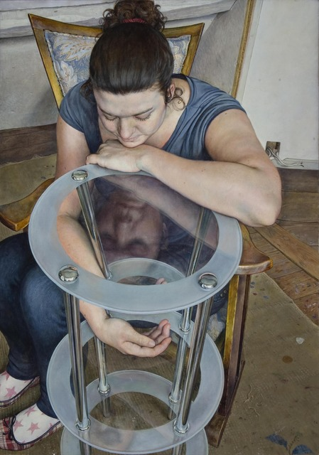 Michael Taylor (b. 1952), 'Seated Girl with Three-Tiered Table', 2009, Waterhouse & Dodd