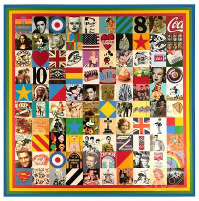 Peter Blake, '100 Sources of Pop', 2014, Lougher Contemporary