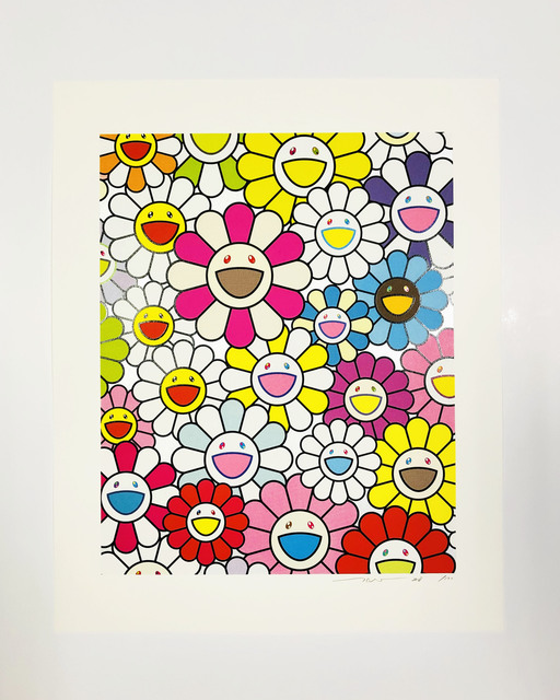 Takashi Murakami, 'A Little Flower Painting: Pink, Purple and Many Other Colors', 2018, Print, Silkscreen, Lougher Contemporary