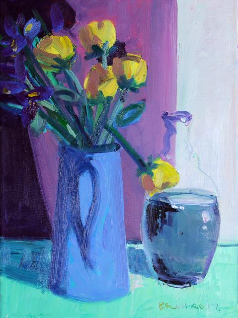 Brian Ballard, 'Roses and Bottle', 2017, Gormleys Fine Art