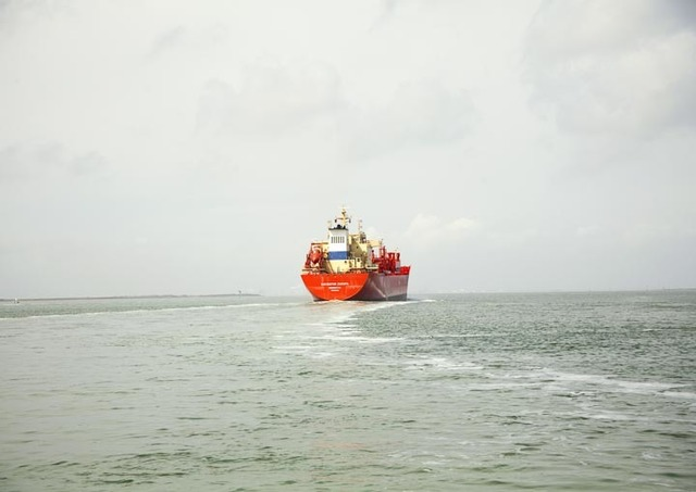 , 'Untitled (LPG Tanker, Navigator Europa, Liberia), Houston Ship Channel, Texas,' 2015, Yancey Richardson Gallery