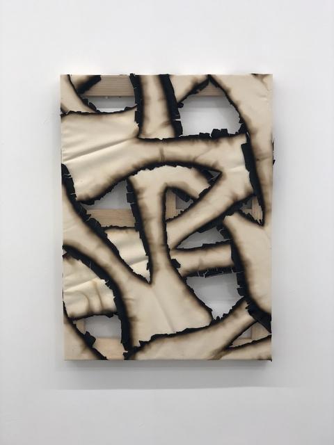 , 'Untitled (Burnt canvas),' 2018, PEANA