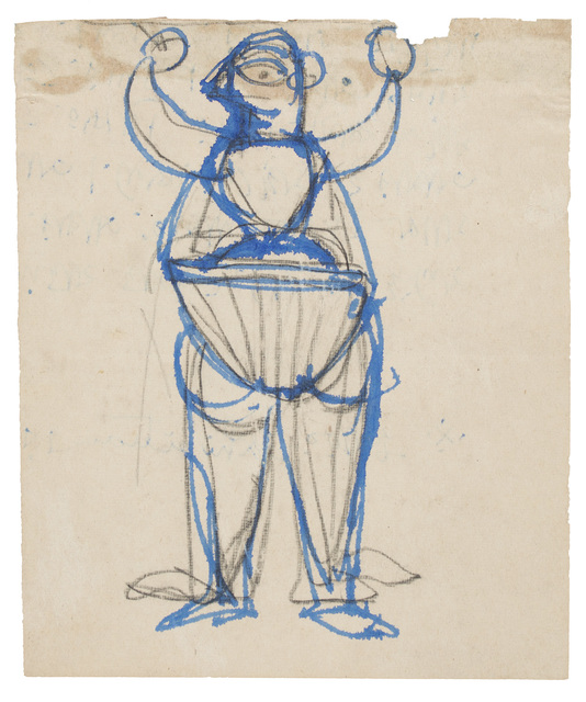, 'UNTITLED	(Dhol player),' ca. 1940, Prinseps