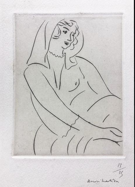 Henri Matisse, 'Jeune Femme, voile sur la tete', 1929, Fairhead Fine Art Limited