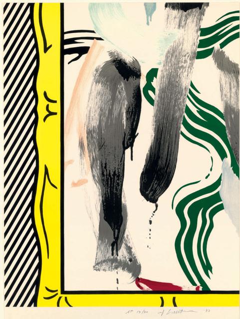 Roy Lichtenstein, 'Against Apartheid (C. 200)', 1983, Print, Lithograph on Arches paper, Taglialatella Galleries