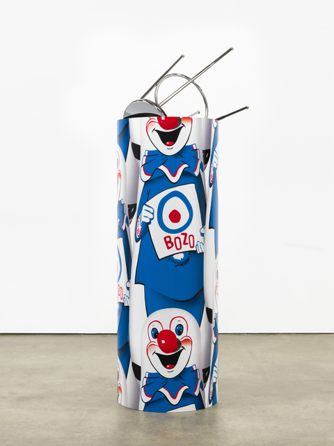 ", '""Bozo""™ ""The World's Most Famous Clown"" Bop Bag with Occasional Performance (Blue Variation),' 2014, Nasher Sculpture Center"