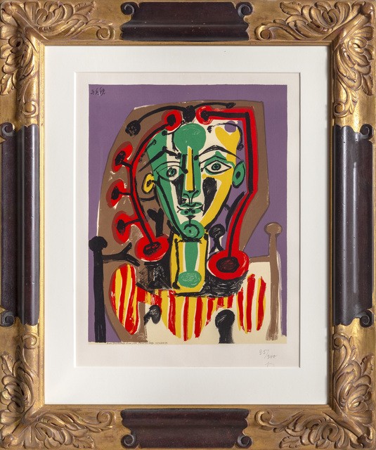 Pablo Picasso, 'Le Corsage Rayé', 1978, Print, Lithograph on Arches Paper, RoGallery