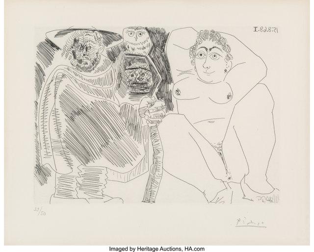 Pablo Picasso, 'Grosse prostituée, sorcière à la chouette et voyageur en sabots, from Series 347', 1968, Heritage Auctions