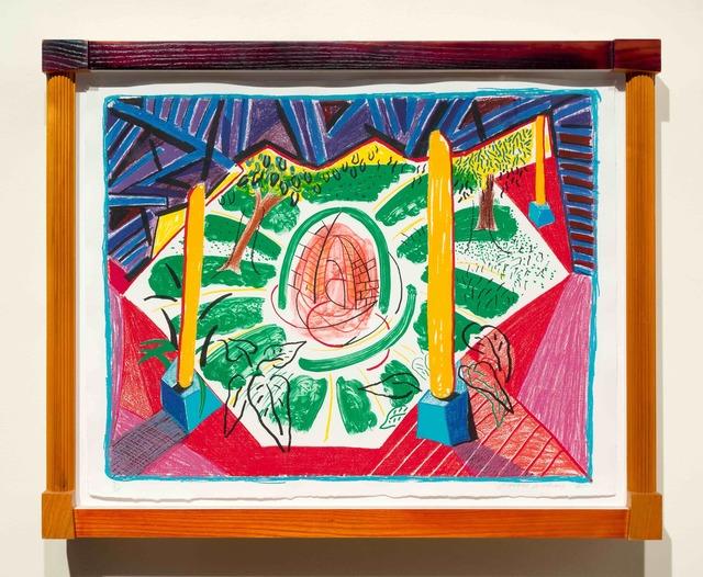 David Hockney, 'Views of Hotel Well II', 1985, Print, Lithograph, Leslie Sacks Gallery