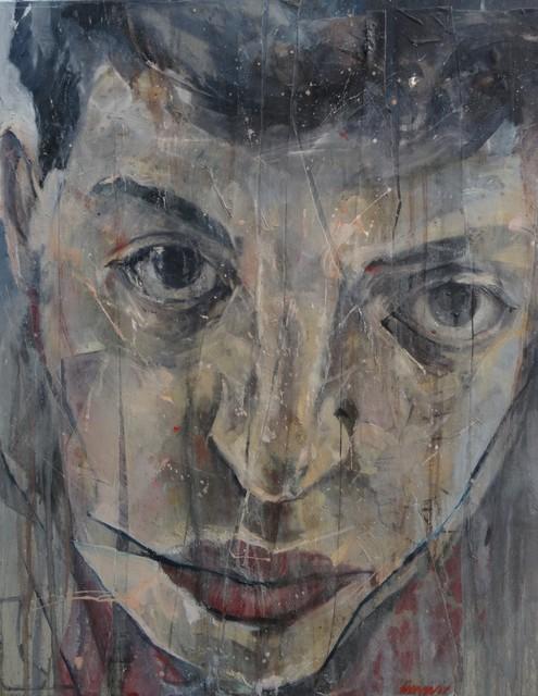 , 'Autoportrait Lacéré,' 2015, Villa Domus