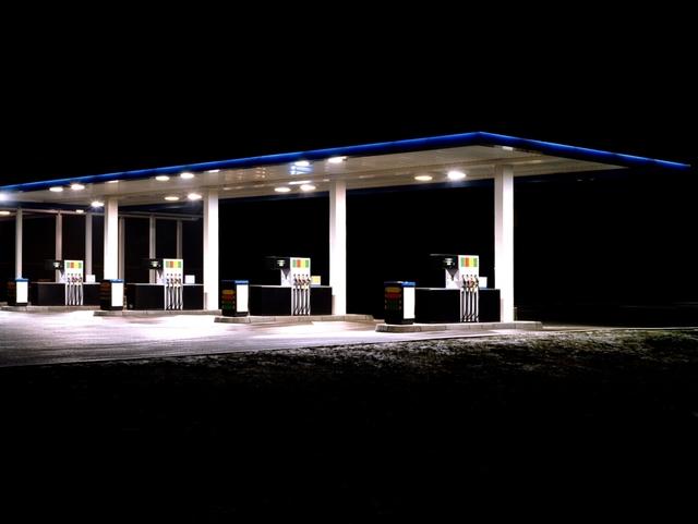 , 'Petrol Stations (blue, white),' 1998, Bernhard Knaus Fine Art