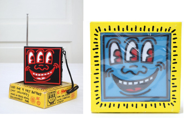 , '2- POP SHOP- AM/FM Radio's, RED & BLUE, Original Packaging,' 1985, VINCE fine arts/ephemera