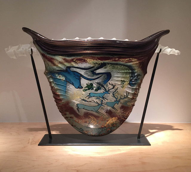 , 'Suspended Petroglyth Vessel,' 1991, Abmeyer + Wood Fine Art