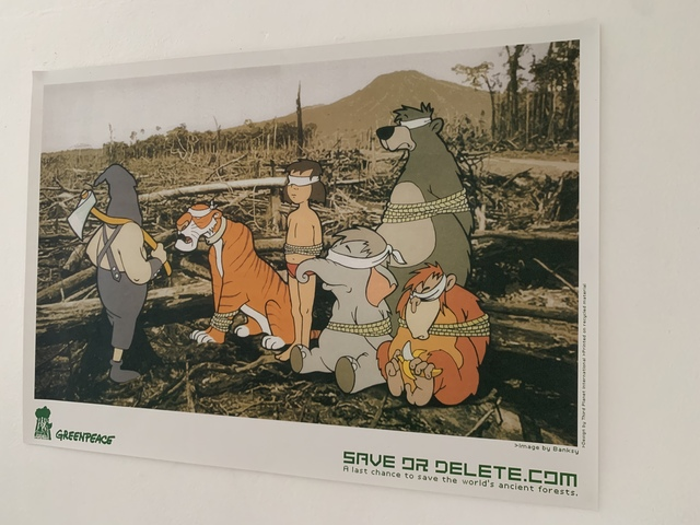 """Banksy, 'BANKSY """"SAVE DELETE"""" GREENPEACE PRINT & STICKER SET, LIMITED EDITION', 2002, Ephemera or Merchandise, Offset Lithograph Printed In Colours On Recycled Paper, Arts Limited"""