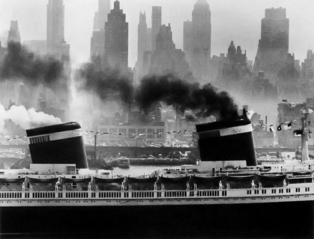 """Andreas Feininger, 'The """"United States"""" Setting Sail, New York', 1952, Etherton Gallery"""