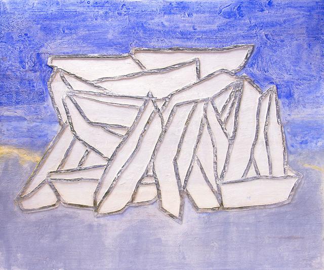 Raúl Díaz, 'AMONTONADOS 2', 2019, Painting, Mixed Media on Wood Panel, Jerald Melberg Gallery