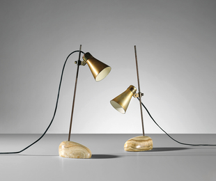 Two 'Sasso' adjustable table lamps, model no. Lta 1