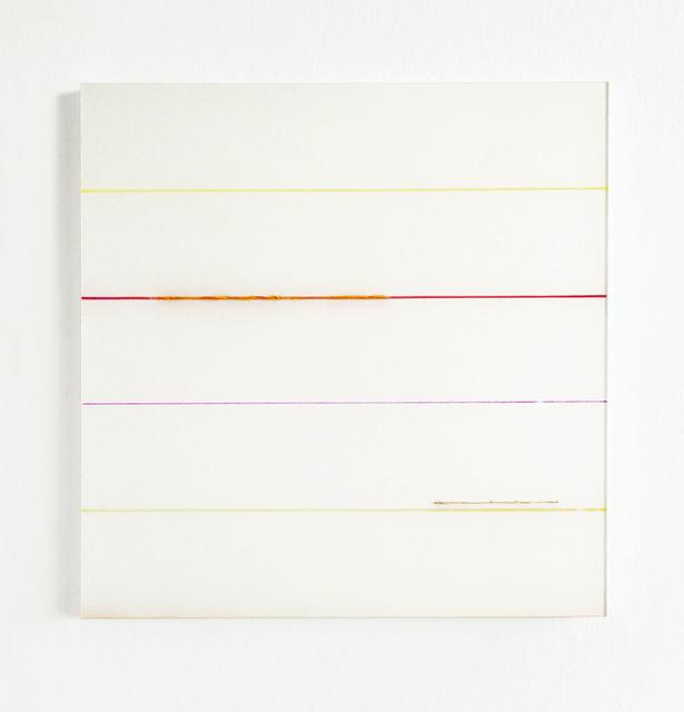 , 'Weiß Orange durch Streifen,' 2017, Galerie Heike Strelow