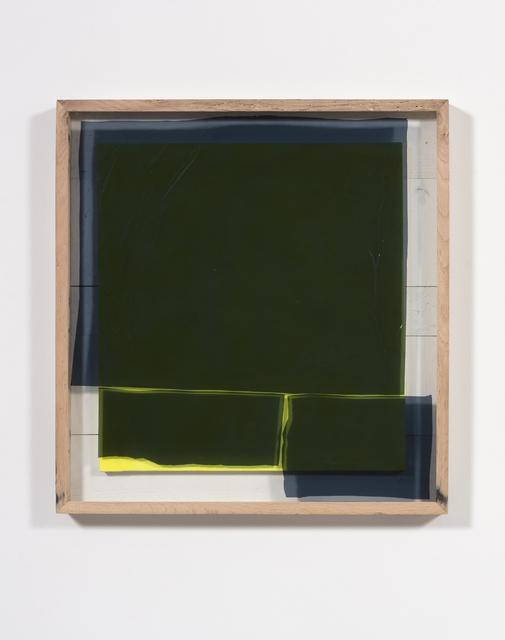 Graham Collins, 'Gondwana', 2018, Painting, Spray enamel on canvas, reclaimed wood, glass, window tint, Steve Turner