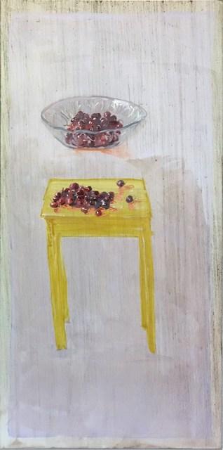 , 'Glasschale, Kirschen / Tisch, Kirschen,' 2014, Flowers