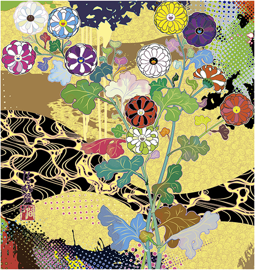 Takashi Murakami, 'Korin:The Time of Celebration 光琳:祝祭の時', 2016, Print, Offset Lithograph, Der-Horng Art Gallery