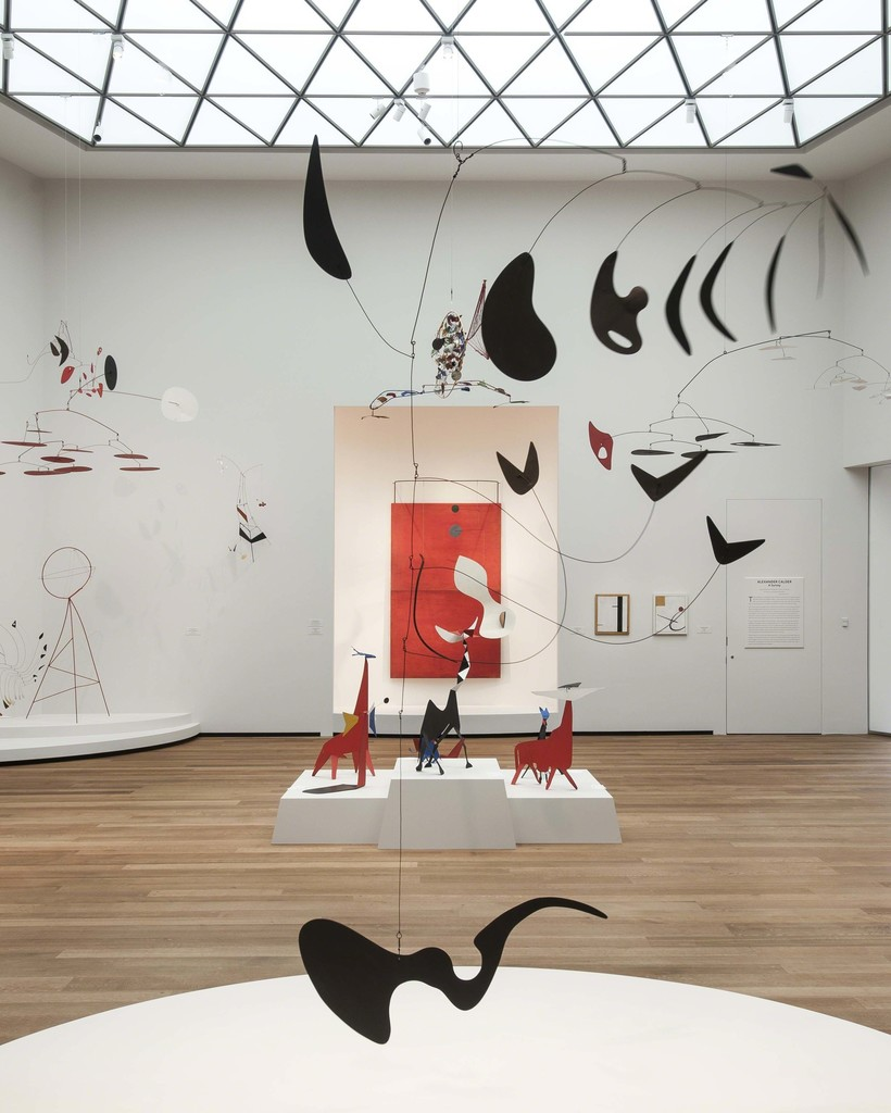 Alexander Calder: A Survey in East Building, Tower 2 galleries. Copyright © 2016 Calder Foundation, New York / Artists Rights Society (ARS), New York. Photo by Rob Shelley. Photo Copyright © 2016 Board of Trustees, National Gallery of Art, Washington