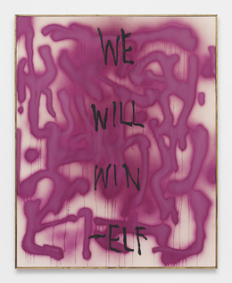 , 'WE WILL WIN -ELF -- Oregon Graffiti from ELF archive w/ Subversive STREET ART organic cold pressed beet paint (Proceeds support ELF, Greenpeace, Planned Parenthood) Support ETHICAL treatment,' 2014, Feuer/Mesler