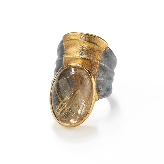 , 'Rutilated Quartz Ripple Ring,' ca. 2017, Patina Gallery