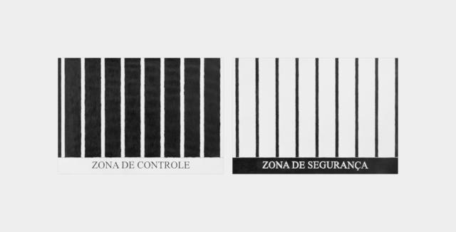 , 'série uma zona - zona de controle/segurança,' 2018, Galeria Raquel Arnaud