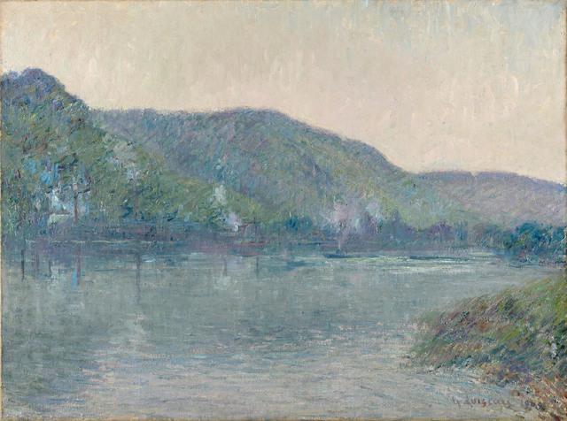, 'Bateaux sur la Seine à Oissel,' 1909, Stoppenbach & Delestre