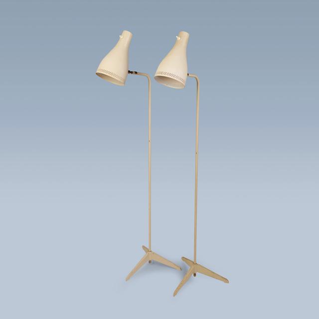 Svend Aage Holm Sørensen, 'Pair of white midcentury floor lamps', 1950-1960, FarverCramon
