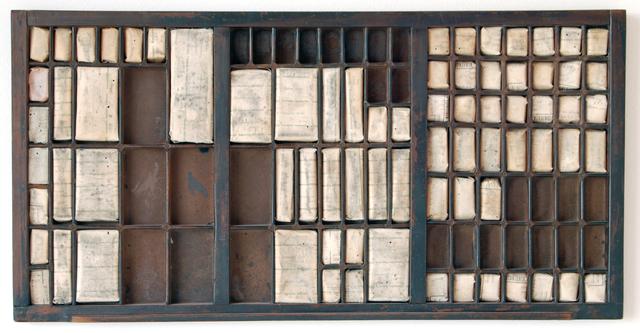 , 'Cajón tipográfico I,' 2010, Piero Atchugarry Gallery