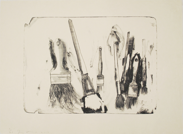 , 'Brushes Drawn on Stone #2,' 2010, Tamarind Institute
