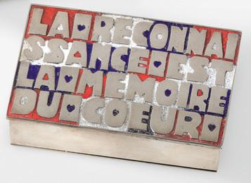 """Line Vautrin, '""""La Reconnaissance est la Mémoire du Cœur"""" Box,' circa 1946, Sotheby's: Important Design"""