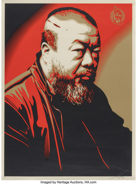 Shepard Fairey (OBEY), 'Portrait of Ai Weiwei', 2014, Heritage Auctions
