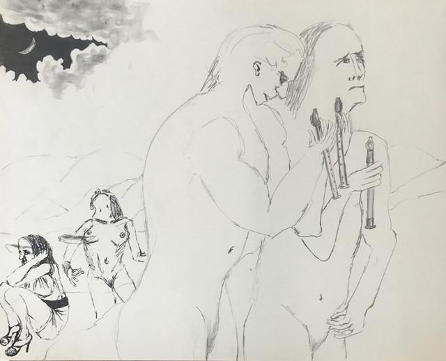 , 'Untitled (four figures, three flutes),' 2015, MARTOS GALLERY